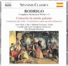 RODRIGO - CONCERTO IN MODO GALANTE CD