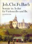 BACH, JOH. CHR. FR.  - SONATE IN A-DUR FÜR VIOLONCELLO UND BC.,  HERAUSGEGEBEN VON WINFRIED MICHEL