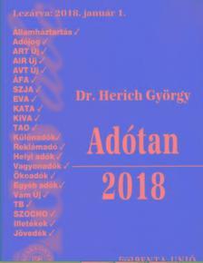 Dr. Herich György - Adótan 2018  29. átdolg. kiad.