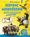 DWA Kedvenc mesehőseink kifestőfüzete matricákkal 2. - Kung Fu Panda, Madagaszkár pingvinjei, Dragons ###