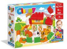 .- - Clemmy Plus Puha, bébi építőjáték szett - Farm készlet 42 db