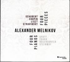 SCHUBERT,CHOPIN,LISZT,STRAVINSKY - FOUR COMPOSERS,FOUR PIECES,FOUR PIANOS,CD