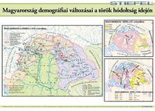 D1819D-S - Magyarország demográfiai vált. a török hódoltság idején 70x100 falitérkép