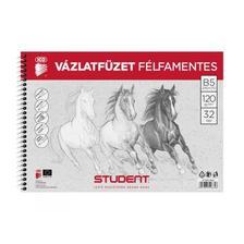 7500118003 - STUDENT VÁZLATFÜZET FÉLFAMENTES B5