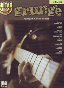 GRUNGE (PLAY 8 SONGS WITH TAB AND SOUND-ALIKE CD TRACKS) GUITAR PLAY-ALONG VOL.88 + CD