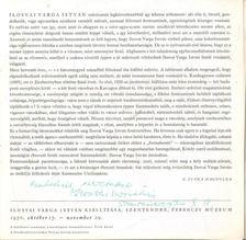 B. SUPKA MAGDOLNA - Ilosvai Varga István kiállítása (dedikált) [antikvár]
