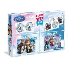 Clementoni Puzzle 2x30 Disney Jégvarázs + Memória + Dominó