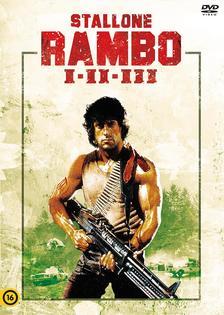 """""""Ted Kotcheff George P. Cosmatos Peter MacDonald   """" - Rambo I-II-III 3 DVD díszdoboz"""