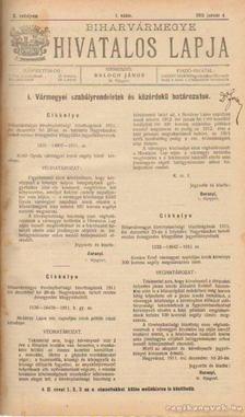 BALOGH JÁNOS - Biharvármegye hivatalos lapja 1912. (teljes) [antikvár]