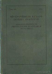 Dr. Jermy Tibor (főszerk.) - Növényvédelmi kutató intézet évkönyve 1976. [antikvár]