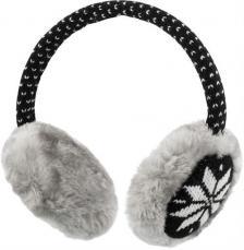 Streetz HL-251 Sztereo headset és fülmelegítő, szőrmés szürke/fekete