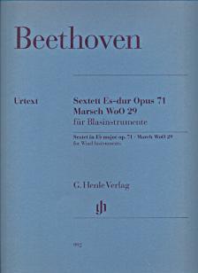 BEETHOVEN - SEXTETT ES-DUR OP.71; MARSCH WoO 29 FÜR BLASINSTRUMENTE, STIMMEN URTEXT (EGON VOSS)