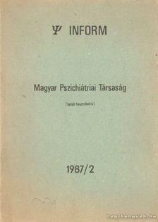 Dr. Kopp Mária - Magyar pszichiátriai társaság 1987/2 [antikvár]