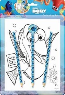 Disney: Dory - színezőkészlet radírral