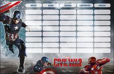 7650 - Órarend nagy Captain America Civil War 16451801