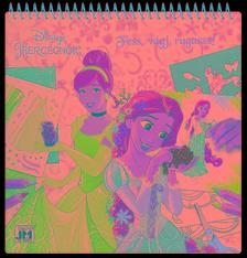 - Disney Hercegnők - kreatív matricás színező 25x25