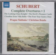 SCHUBERT - COMPLETE OVERTURES VOL.1 CD BENDA, PRAGUE SINFONIA