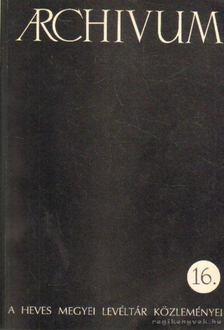 Csiffáry Gergely - Archivum 16. [antikvár]