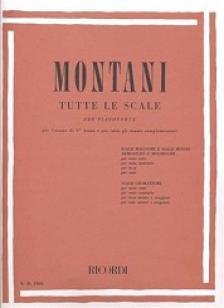 MONTANI, PIETRO - TUTTE LE SCALE PER PIANOFORTE (SCALE MAGGIORE E SCALE MINORI)