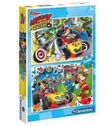 Clementoni Puzzle 2x60 Micky és a sportpálya