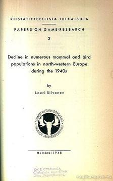 Vadállatok kutatásával kapcsolatos anyagok (Papers on Game Research I 1948-1956) [antikvár]