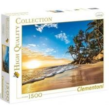 .- - Clementoni Puzzle 1500 Trópusi napkelt