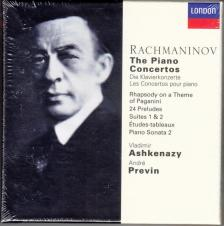 RACHMANINOV - THE PIANO COCNERTOS, PIANO WORKS 6CD ASHEKNAZY, PREVIN
