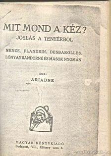 Ariadne - Mit mond a kéz? [antikvár]