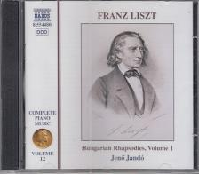 Liszt Ferenc - HUNGARIAN RHAPSODIES VOL.1 CD JANDÓ JENŐ