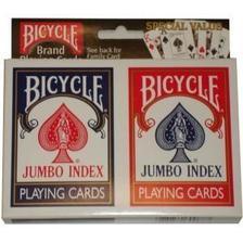 1004949 - Bicycle Rider Back, jumbo index, kártya, dupla