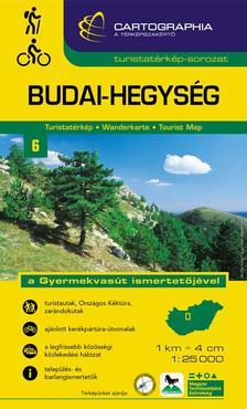 """Cartographia Kiadó - BUDAI-HEGYSÉG TURISTATÉRKÉP 6. 1:25000 * CART. - """"SC"""" - 6."""