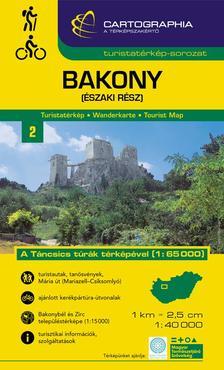 Cartographia Kiadó - BAKONY (ÉSZAKI RÉSZ) TURISTATÉRKÉP -