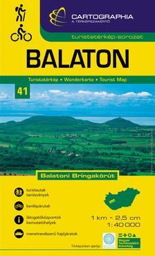 """Cartographia - BALATON TURISTATÉRKÉP - 1:40.000 - CART. - """"SC"""" -"""