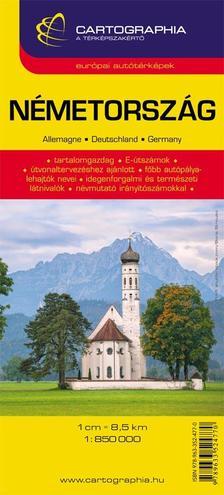 Cartographia Kiadó - NÉMETORSZÁG AUTÓTÉRKÉP - CART. -
