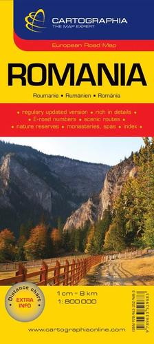 Cartographia - Románia autótérkép `SC`új