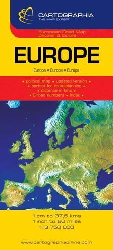 Cartographia - EURÓPA AUTÓTÉRKÉP - 1:3.750.000 -