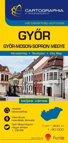 Cartographia Kiadó - GYŐR VÁROSTÉRKÉP 1:20000 CART.