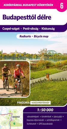 - Budapesttől délre kerékpáros térkép