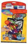 Colorino - Colorino Creative STAINED GLASS aktív kifestőkönyv - ABLAKDÍSZ 6db filctollal
