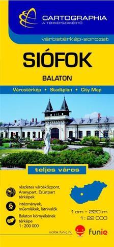 Cartographia - SIÓFOK VÁROSTÉRKÉP 1:22000 - CART. -