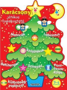 - Karácsonyi játékos foglalkoztató - Piros