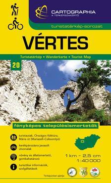Cartographia Kiadó - VÉRTES TURISTATÉRKÉP 1:40000 CART.