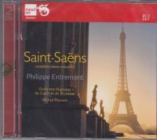 SAINT-SAENS - COMPLETE PIANO CONCERTOS 2CD PHILIPPE ENTREMONT, MICHEL PLASSON