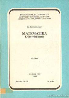 Dr. Reimann József - Matematika-Erőforráskutatás [antikvár]