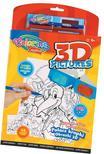 Colorino - Colorino Creative 3D PICTURES aktív kifestőkönyv 2db filctoll+3D szemüveg