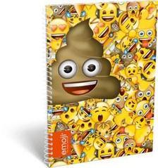 13089 - Füzet spirál A/5 vonalas Emoji Poop 17509301