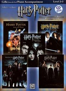 SELECTIONS FROM HARRY POTTER (MOVIES 1-5) FOR CELLO WITH PIANO ACCOMPANIMENT, CD INSIDE