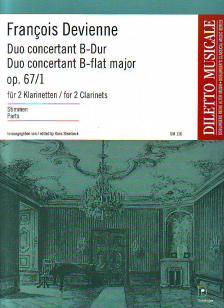 DEVIENNE, FRANCOIS - DUO CONCERTANT B-DUR FÜR 2 KLARINETTEN OP.67/1 (STEINBECK), STIMMEN
