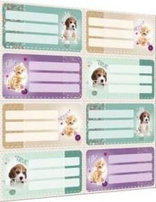 7373 - Füzetcímke íves Pet Mix 16250606
