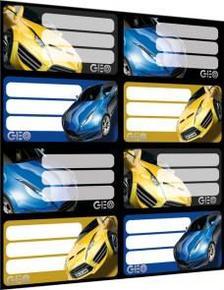 5589 - Füzetcímke íves Geo Technic Yellow 15251202